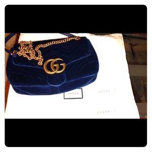 New Gucci GG Marmont velvet shoulder bag $1980
